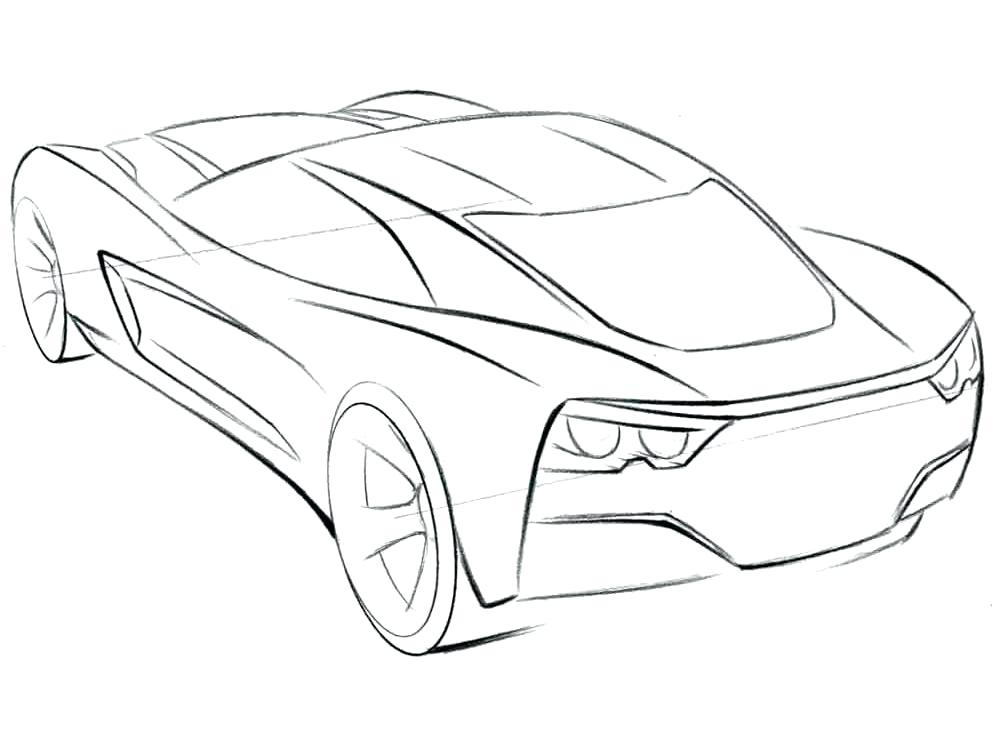1000x750 Stingray Coloring Pages Corvette Stingray Coloring Pages Corvette
