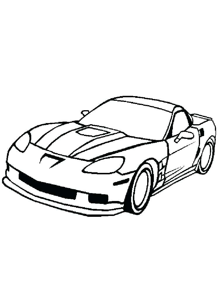750x1000 Corvette Coloring Page Stingray Coloring Page Corvette Coloring