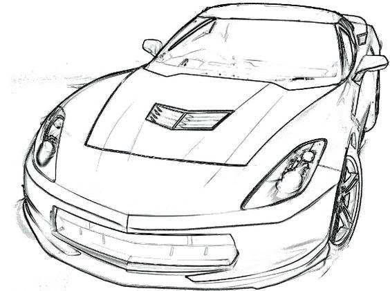 Corvette Z06 Drawing at GetDrawings | Free download