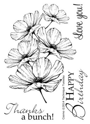 290x400 Cosmo Stamp Set Clear Stamps Technique Tuesday