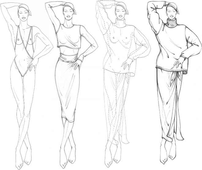 660x556 Line Figure Drawing