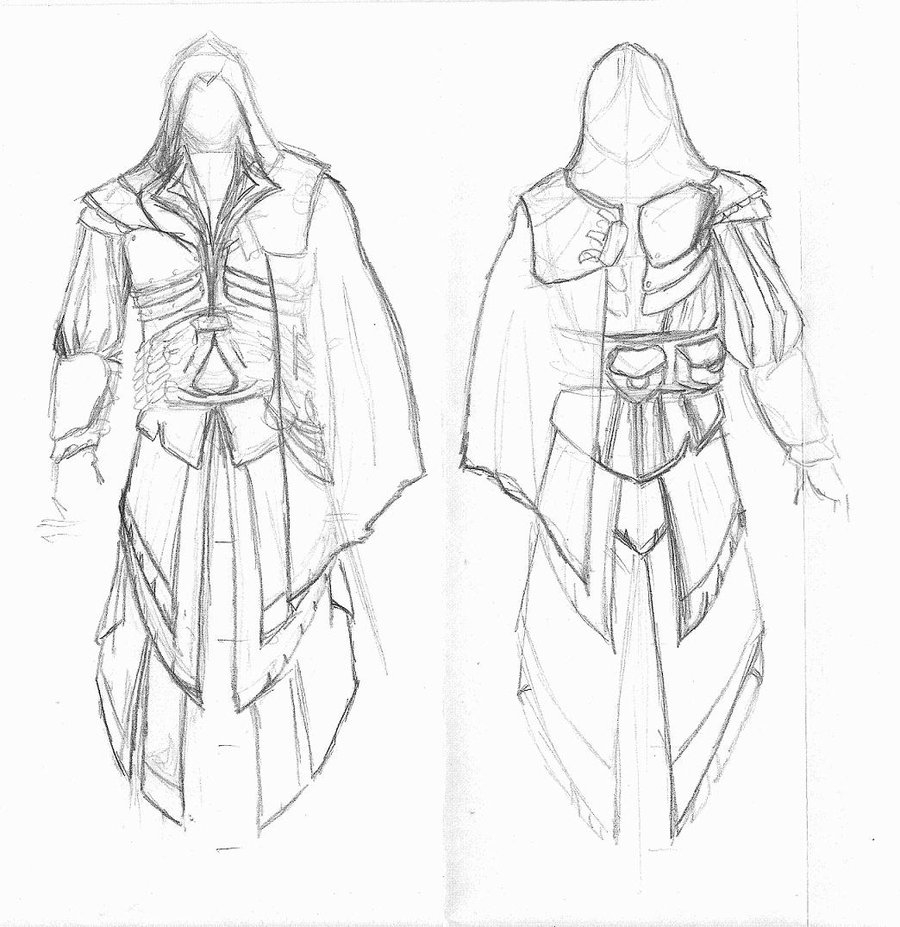 900x927 Assassins Creed Costume Sketch Sketch Coloring Page Assassins