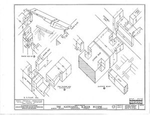 300x230 Timber Frame Colonial Cottage, Architectural Plans, Detailed Frame