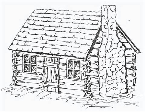 480x372 Log Cabin Coloring Pages Happy Log Cabin Day! Log
