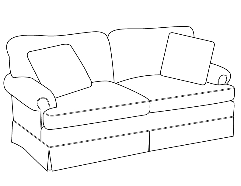Couch Drawing Delighful 792x612 Sofa Drawingline Modern Traditions Furniture Efcpakh In