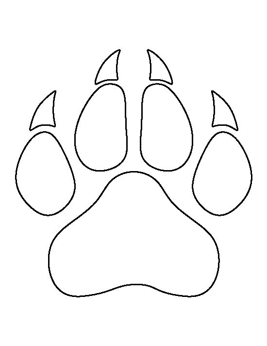 550x712 Lion Paw Print Pattern. Use The Printable Outline For Crafts
