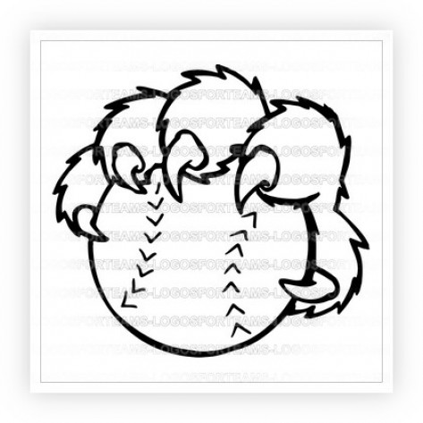 473x473 Logo Part Of Cougar Paw Holding A Baseball Or Softball