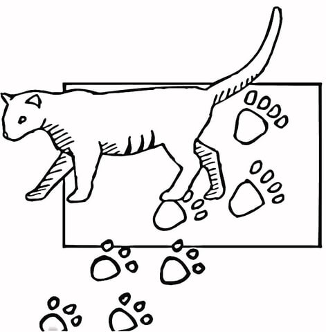 471x480 Paw Print Coloring Page Free Printable Coloring Pages