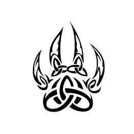 262x262 Tattoo's For Gt Celtic Wolf Paw Tattoo Cougar Tattoo Ideas