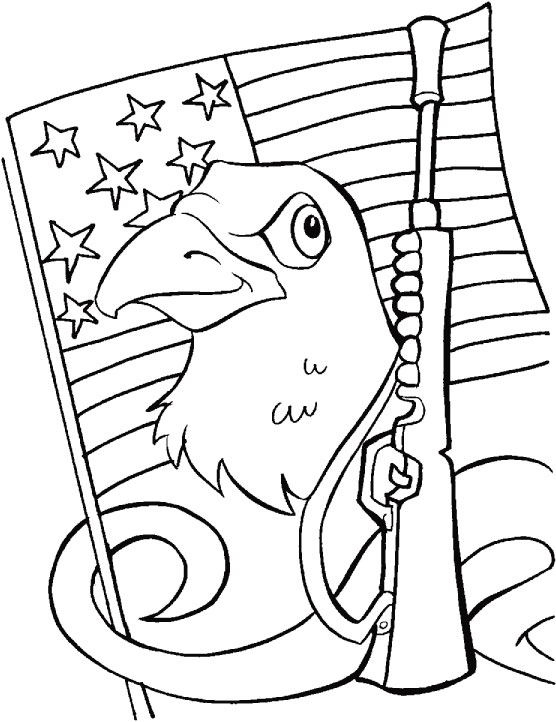 556x722 I Am Also Protecting My Country Bald Eagle Coloring Page