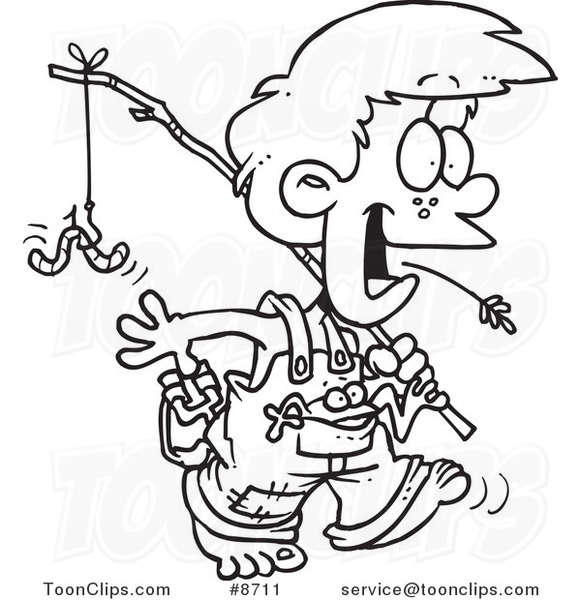 581x600 Cartoon Blacknd White Line Drawing Of Country Boy Carrying