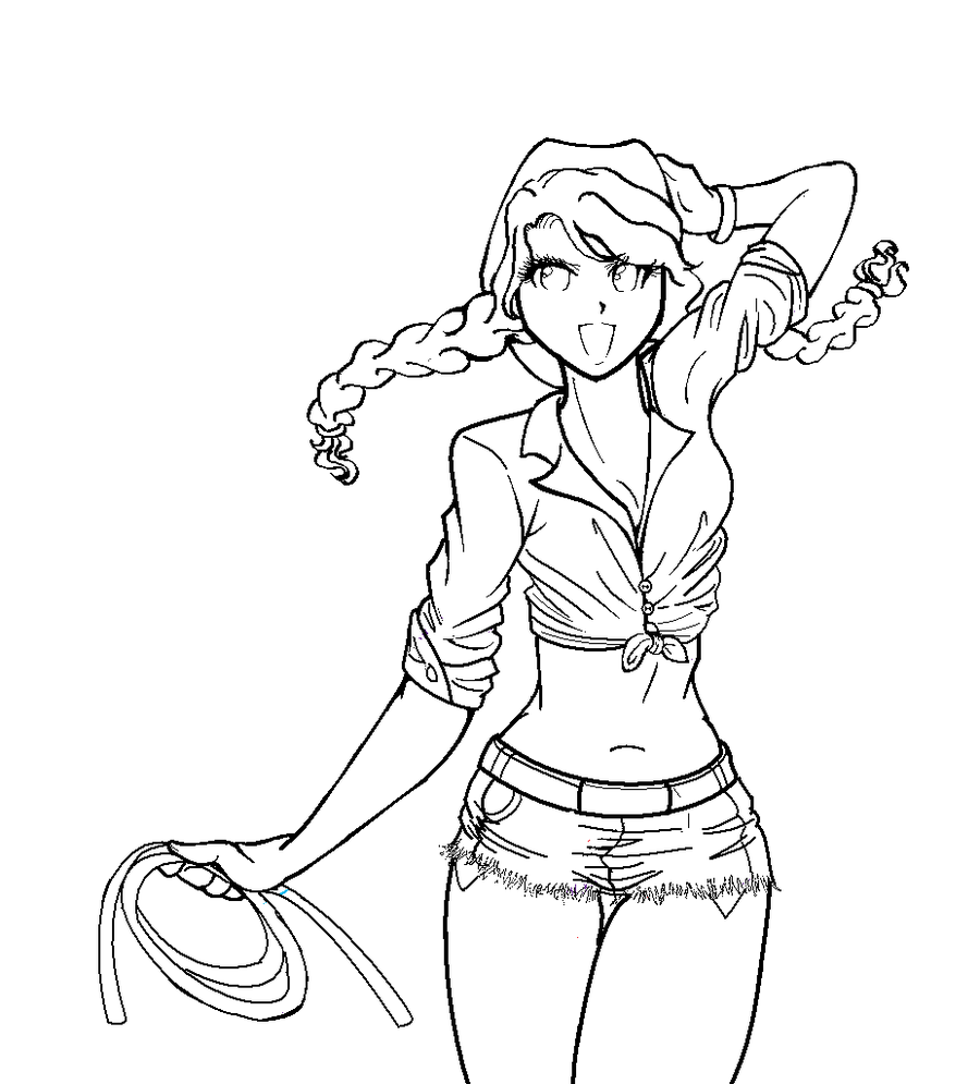 900x995 Country Girl Lineart By Setokaibaluvver213