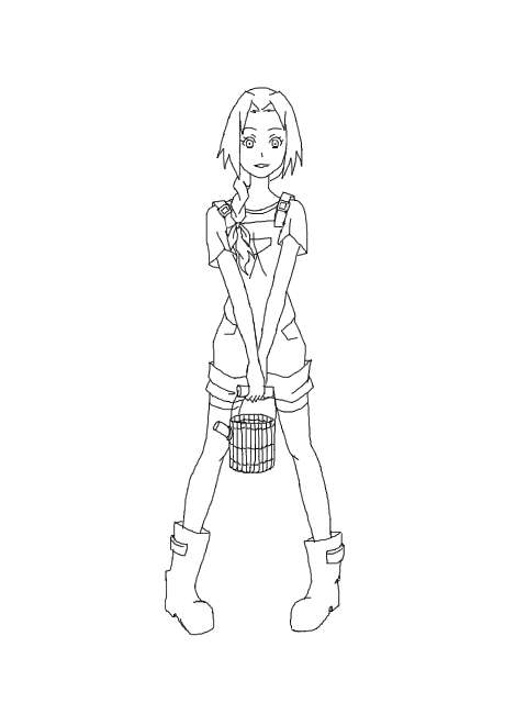 480x640 Sakura Country Girl Lineart By Itasaku4llenstar