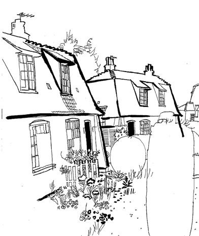 392x465 Lucinda Rogers Dictionary Of Urbanism Black And White Ink Drawing