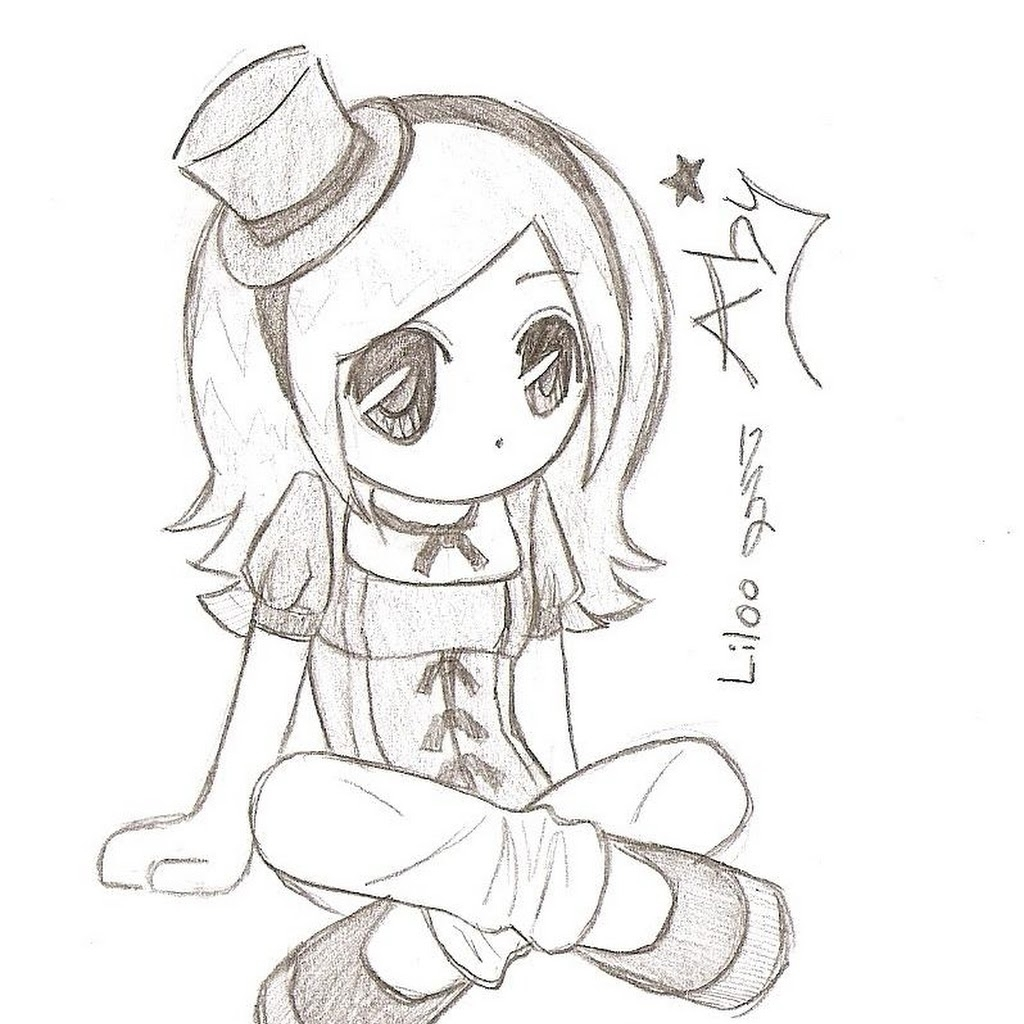 1024x1024 Easy Anime Drawings Easy Anime Drawings In Pencil Chibi Hd