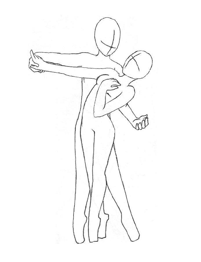 694x902 Dancing Couple Outline By Missyamagawa On Art