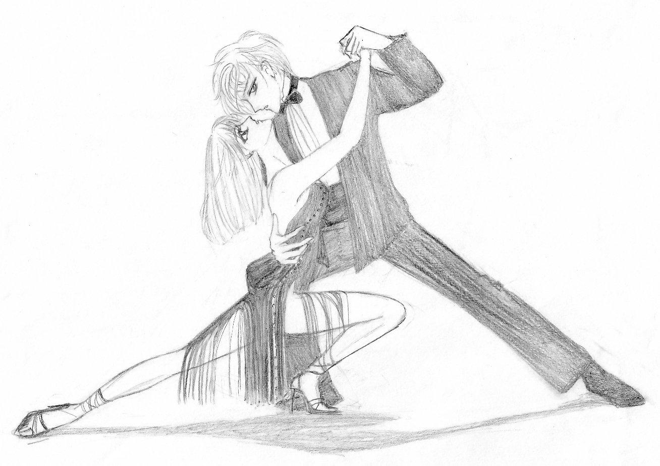 1308x925 Pencil Sketches Of Couples Dancing Drawn Dancer Ballroom Dance