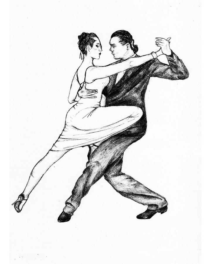 720x900 Tango Dancers Drawing By Ladeen Taylor