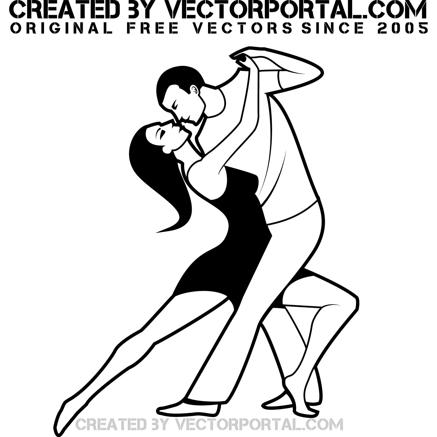 1500x1500 Vector For Free Use Tango Dance Vector Image