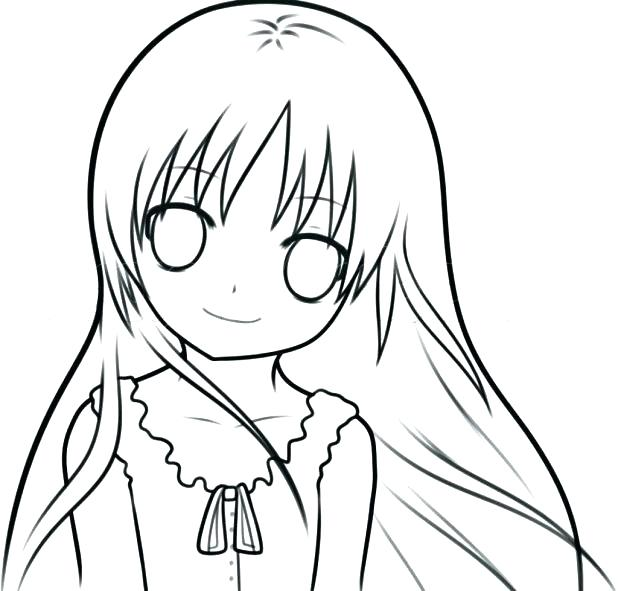 618x591 Emo Coloring Pages Easy Girl Drawing Drawings Eye Couple Of Hair
