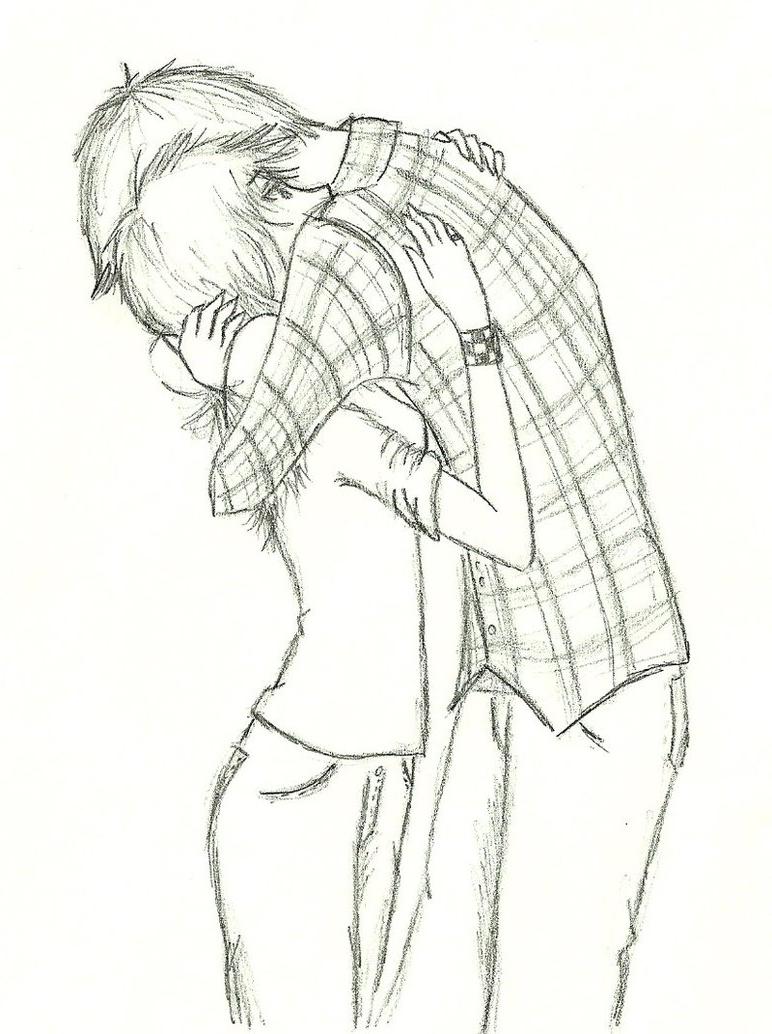 772x1034 Anime Couple Hugging Sketch 3d Sketch Anime Couple