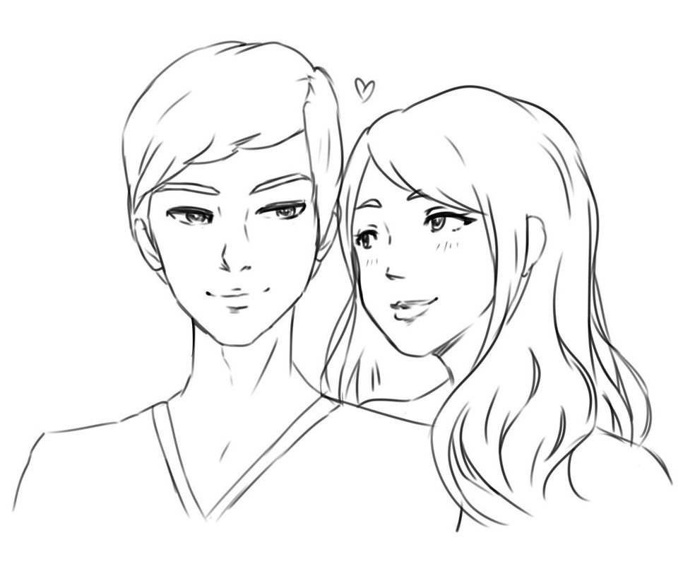 984x812 Real Life Couple Sketch By Mzzazn
