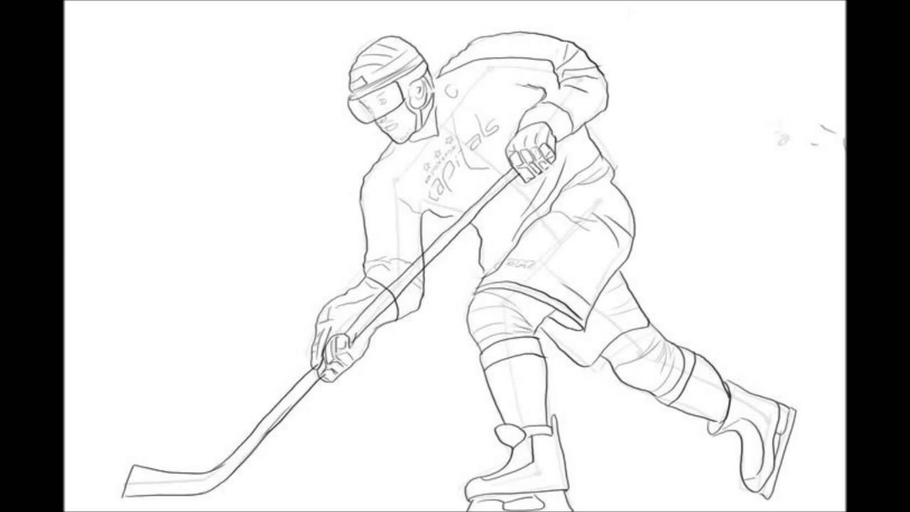 1280x720 How To Draw A Hockey Player