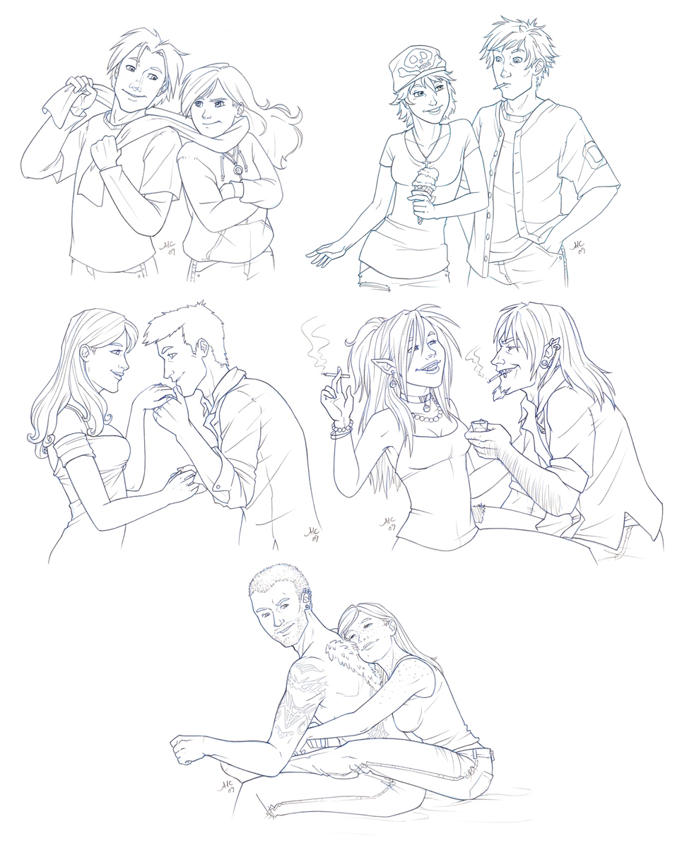 965x1200 Couples Sketch Commishes By Amyclark