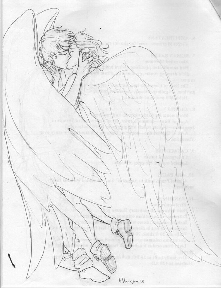 736x959 Angel Couple Angels Angel, Couples And Drawings