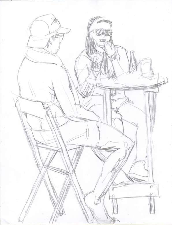 596x777 News Sketches At The Park Artwork By D. B. Clemons