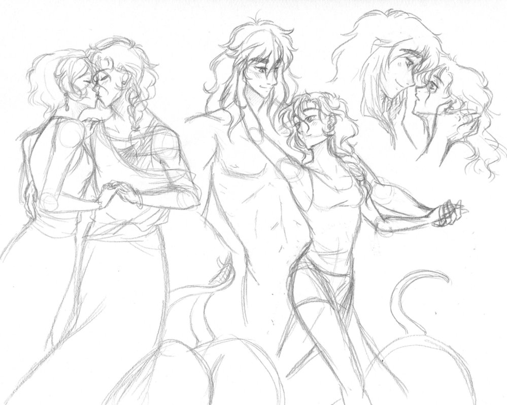 999x799 Couple Sketches~ By Blue Starr