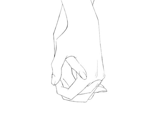 Detailed Drawing Holding Hands
