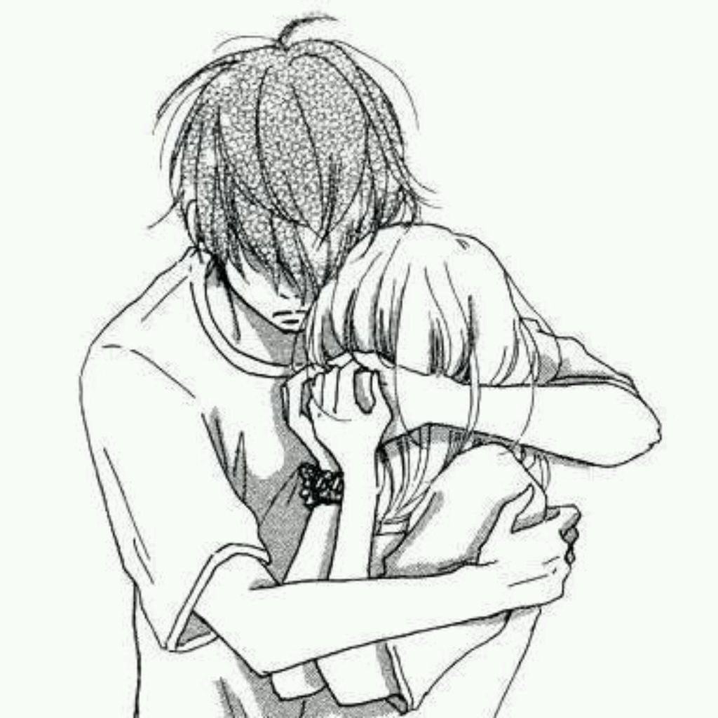 1024x1024 Drawing Of Boy And Girl Hugging Sad Sketches Of Boy And Girl