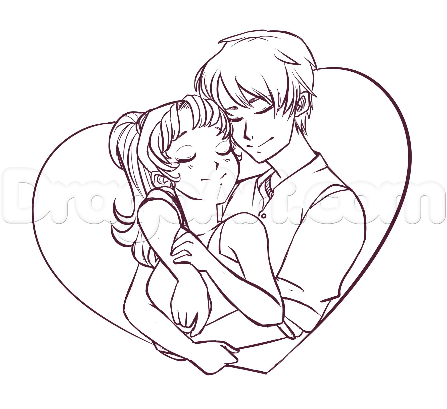 1779x1627 Hugging Drawing Of Teenage Couples The Best Cute Couple