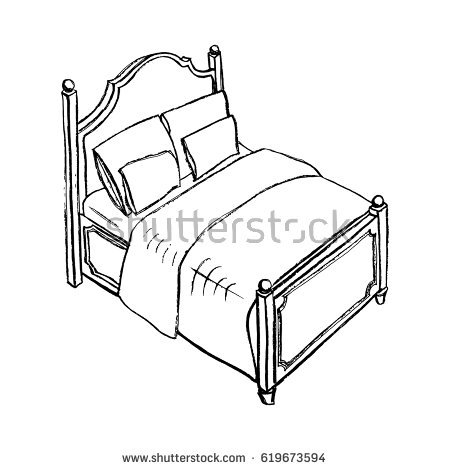450x470 Drawing Of Bed Home Designs Idea