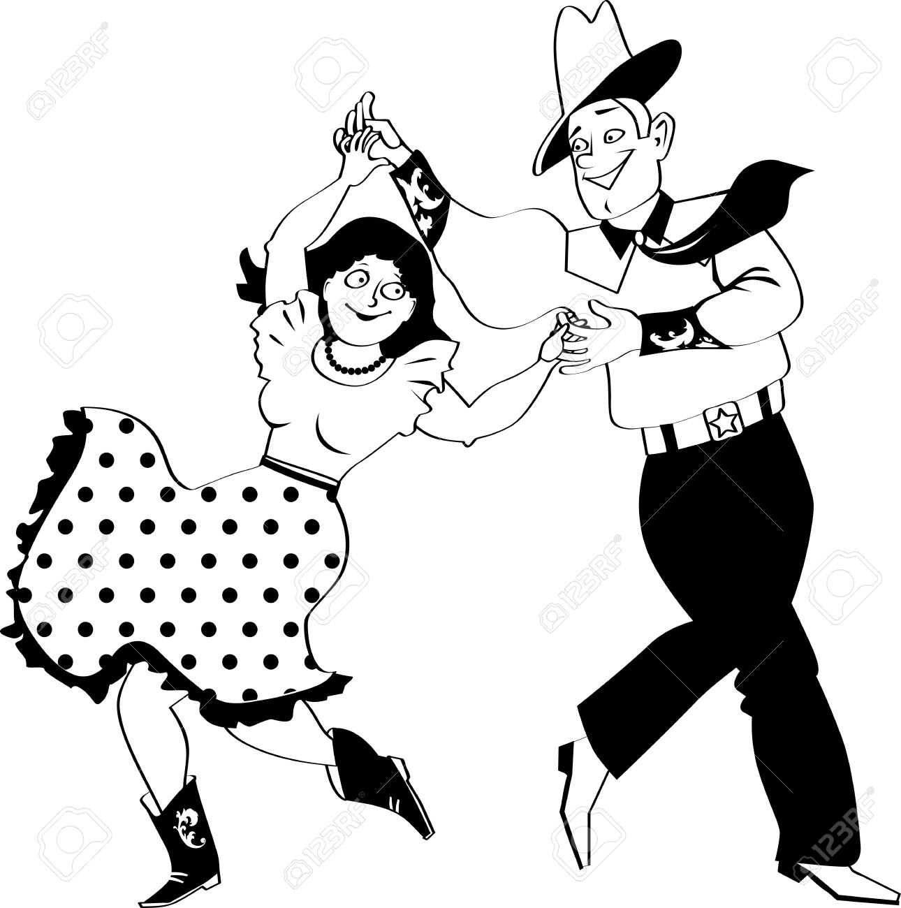 1290x1300 Couple Clipart Square Dancing