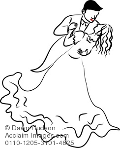 244x300 Line Drawing Of A Couple Dancing Together Clipart Illustration