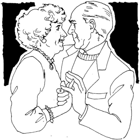 480x477 Old Couple Dancing Coloring Page Free Printable Coloring Pages