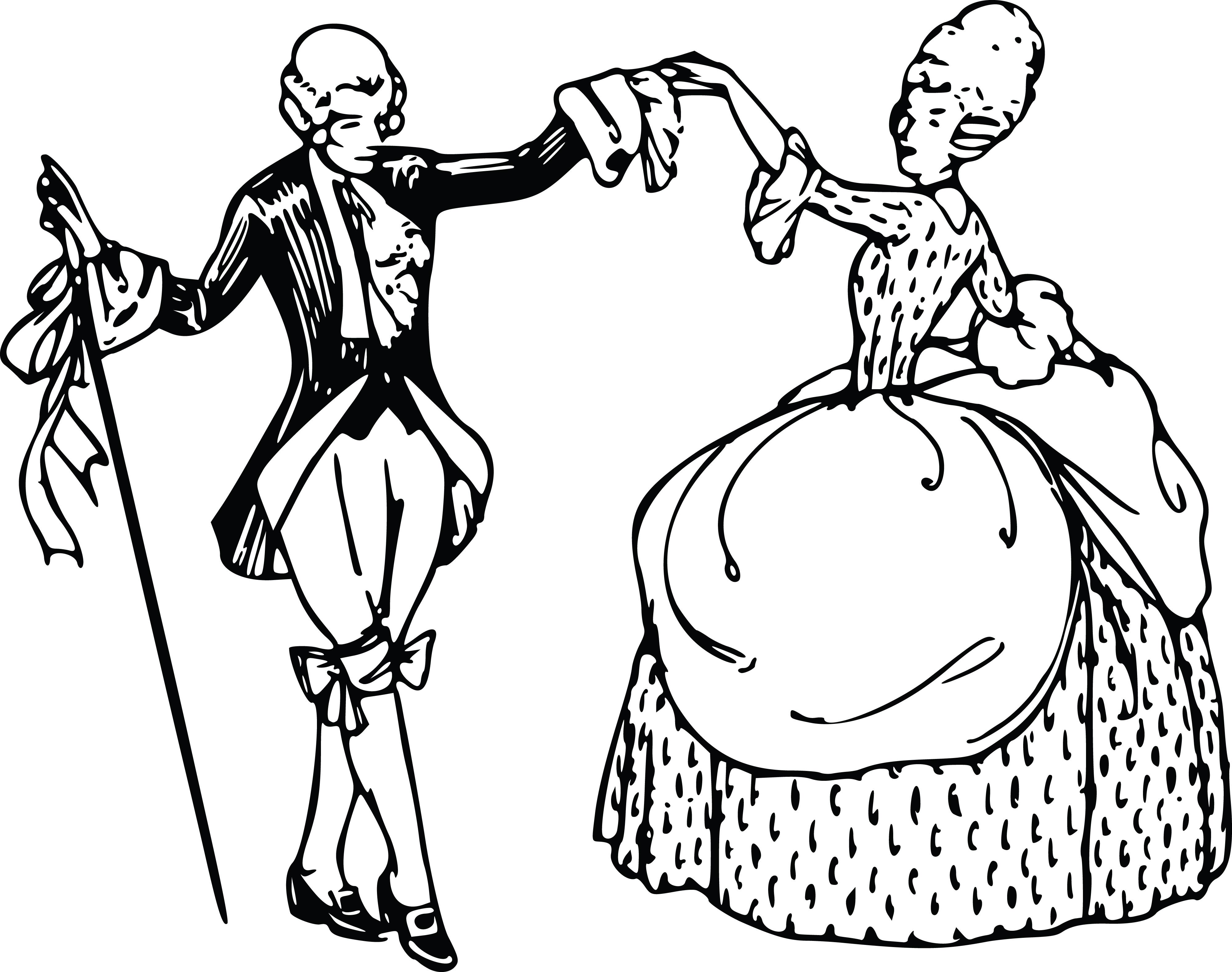 4000x3157 Clipart Of A Vintage Couple Ballroom Dancing