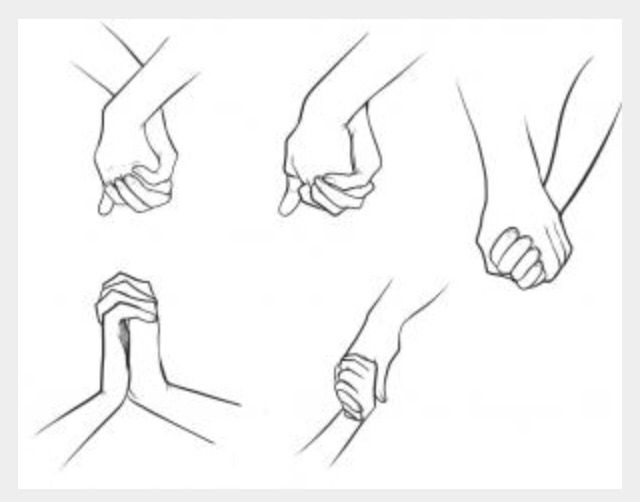Couples Holding Hands Drawing