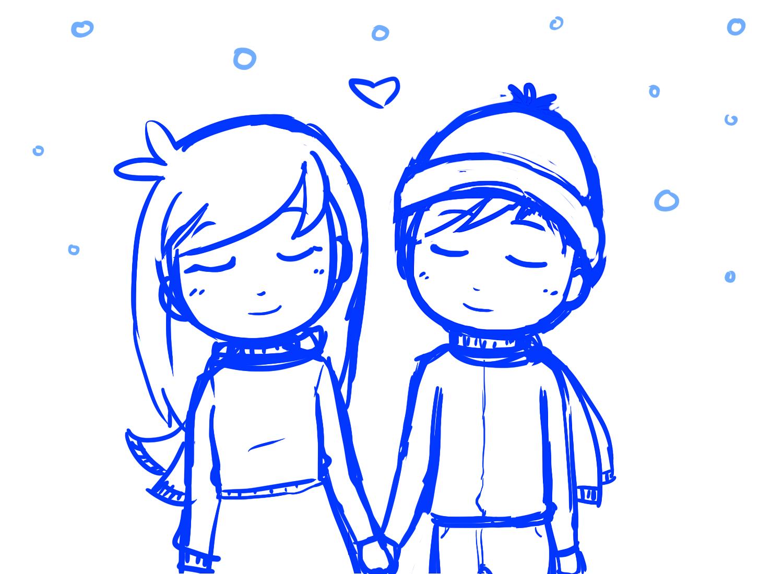 1500x1100 Cute Cartoon Couples Holding Hands