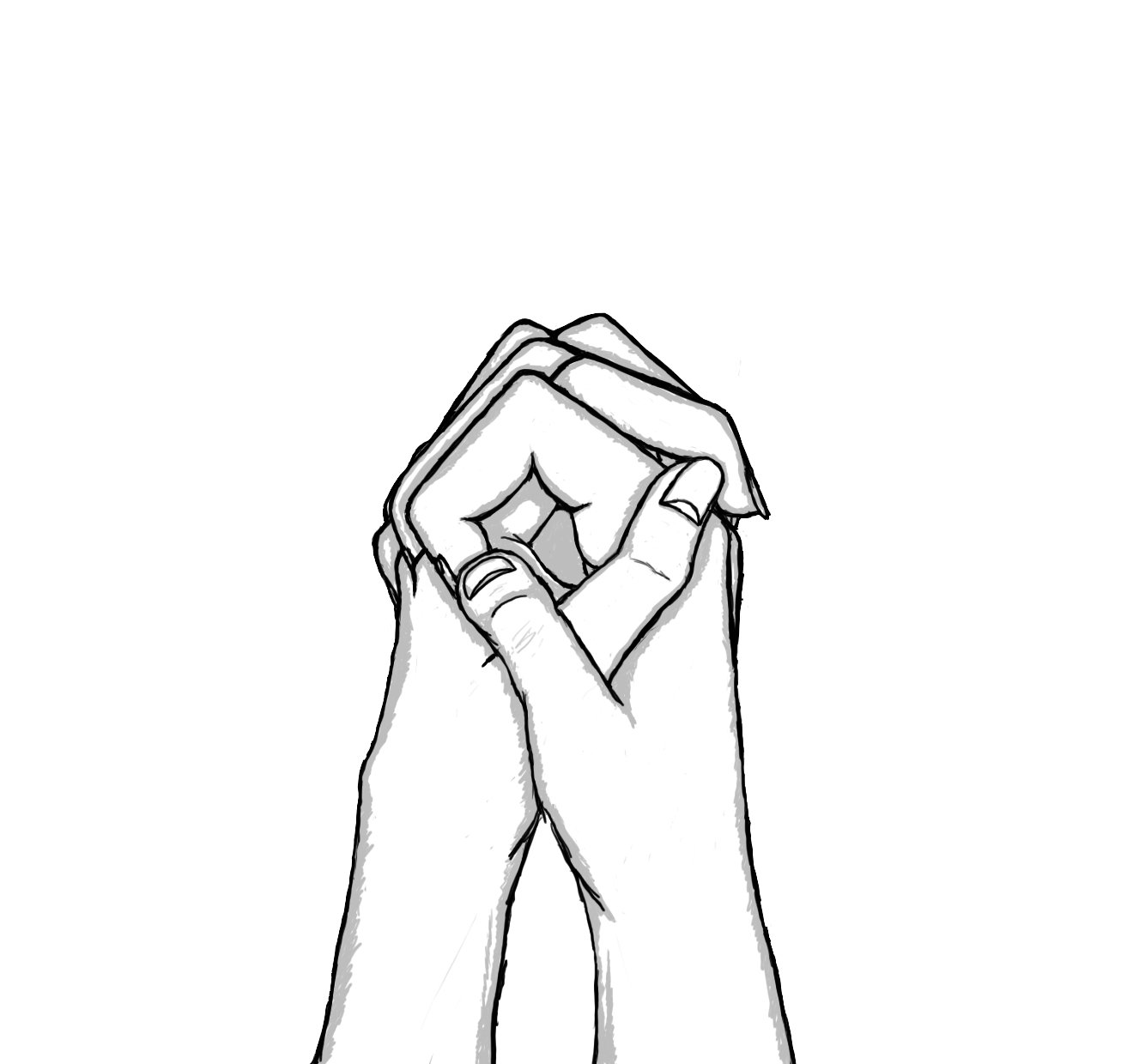 1320x1240 Drawing Of People Holding Hands Drawing Of A Couple Holding Hands