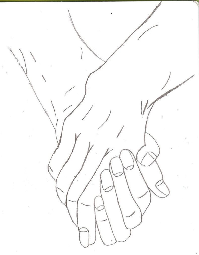 791x1011 Drawing Of Two People Holding Hands Drawing Of Two People Holding
