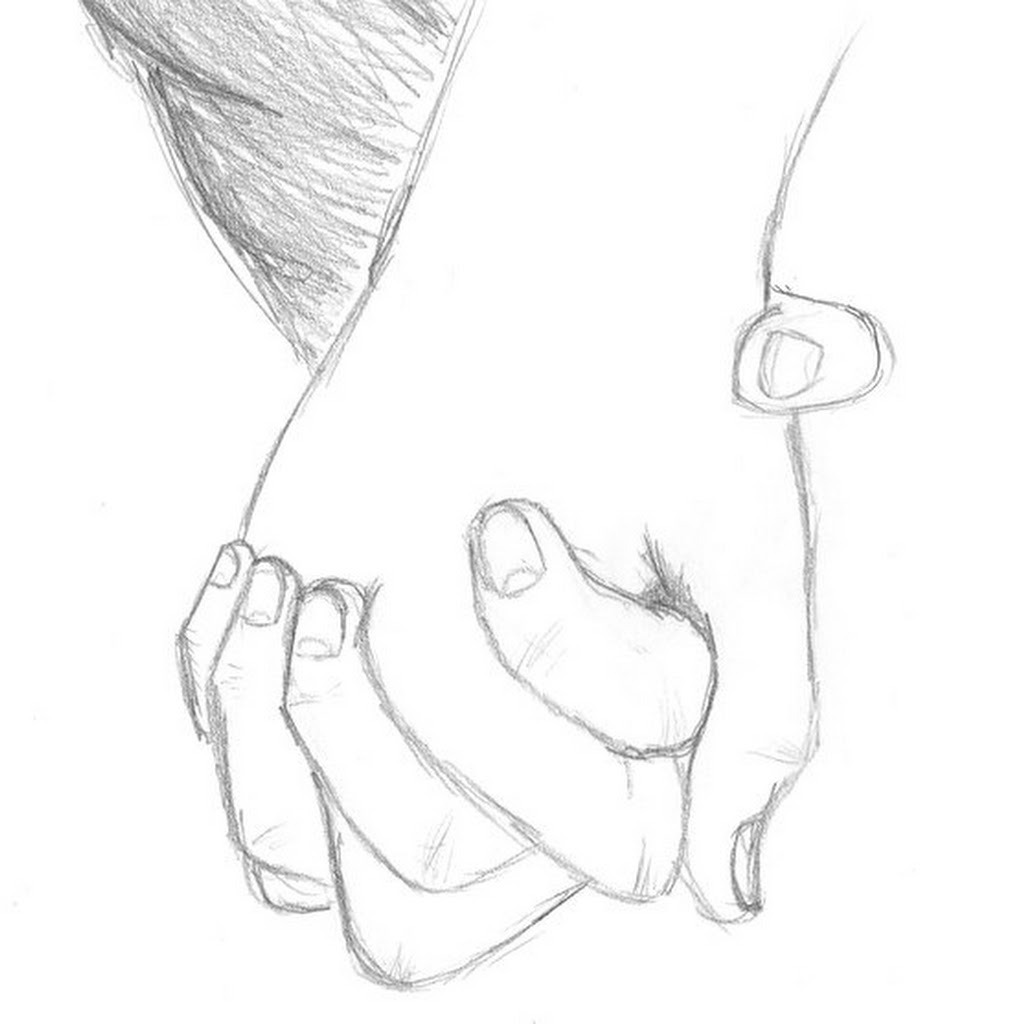 1024x1024 Pencil Drawings Of Couples Holding Hands Anime Couples Drawing