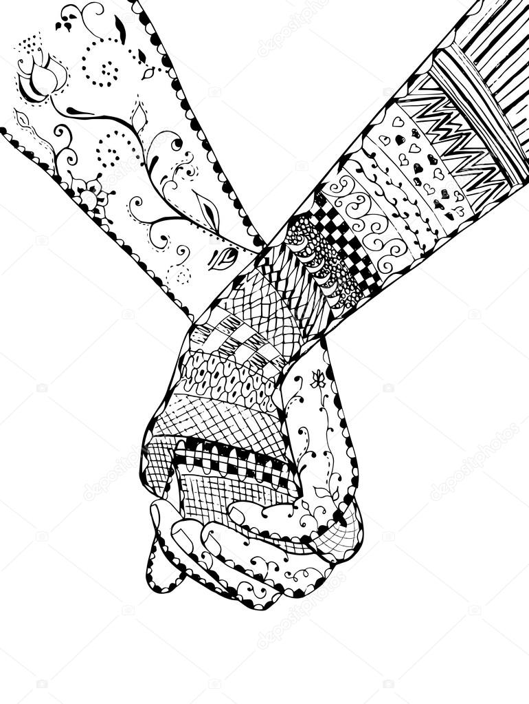 770x1023 Couple Holding Hands Stock Vectors, Royalty Free Couple Holding