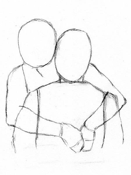 450x600 Gallery Couple Hugging Drawing,