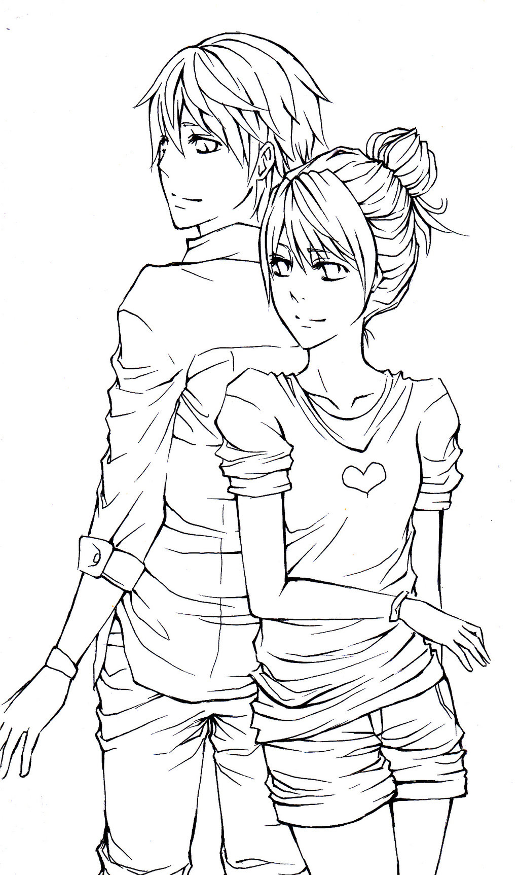 1024x1725 Hugging Colour Sketch Images Cute Couple Drawings, Cute Couples