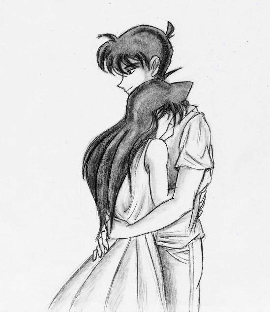 549x634 Photos Anime Couple Hugging Drawings In Pencil,