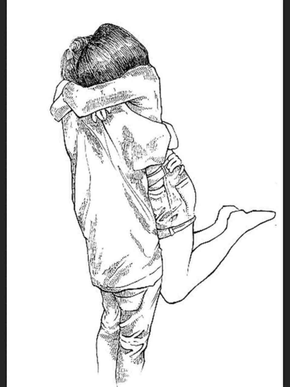 958x1278 Couple Cuddling Drawing Tumblr