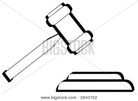 450x330 Gavel Outline Poster Id2843152